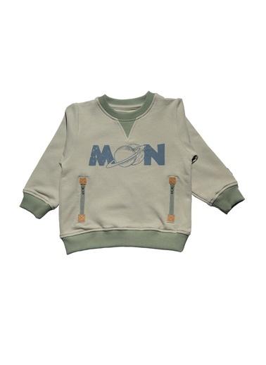 Nila Kids Açık Yeşil Rengi Erkek Bebek Moon Organik Sweat NK08009AY (1 YAş- 5 YAş) Renkli